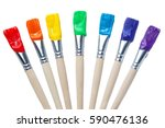 Colorful Paint Brushes With Th...