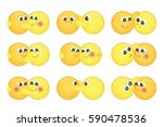set of cute hugging couple... | Shutterstock .eps vector #590478536