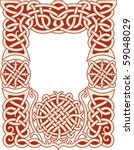 nordic frame pattern with knots ... | Shutterstock .eps vector #59048029