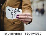 closeup of a young caucasian... | Shutterstock . vector #590494082