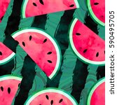 fruity seamless vector pattern... | Shutterstock .eps vector #590495705