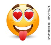 vector emoticon in love | Shutterstock .eps vector #59049676