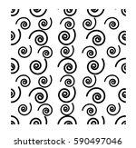 seamless print   spiral pattern | Shutterstock .eps vector #590497046