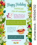 easter day  happy holiday... | Shutterstock .eps vector #590504732