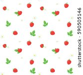 Strawberry Seamless Vector...