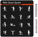 sport vector icons for user... | Shutterstock .eps vector #590508308