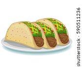 vector illustration of three... | Shutterstock .eps vector #590511236