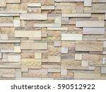 wall of sandstone block for... | Shutterstock . vector #590512922