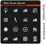real estate vector icons for...   Shutterstock .eps vector #590515925
