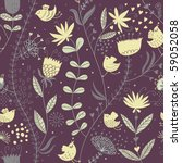 retro floral seamless pattern... | Shutterstock .eps vector #59052058