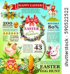 easter facts infographic... | Shutterstock .eps vector #590522522