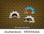 gear logo icon vector... | Shutterstock .eps vector #590544266
