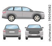 car vector template on white... | Shutterstock .eps vector #590545082