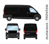 delivery van template for... | Shutterstock .eps vector #590545346