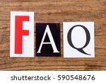 "phrase ""faq"" in cut out... | Shutterstock . vector #590548676"