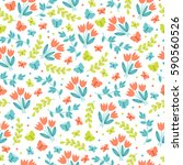 easter seamless pattern with... | Shutterstock .eps vector #590560526