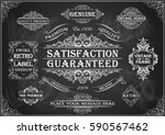 vintage retro label set on a... | Shutterstock .eps vector #590567462