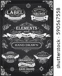 blackboard retro collection... | Shutterstock .eps vector #590567558