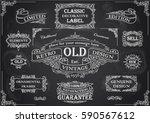 retro collection black... | Shutterstock .eps vector #590567612