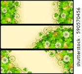 set of patrick's day horizontal ... | Shutterstock .eps vector #590570456