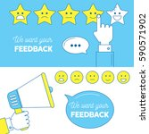 feedback emoticon scale banners.... | Shutterstock .eps vector #590571902