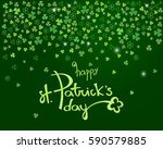 happy st. patrick's day... | Shutterstock .eps vector #590579885