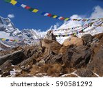 Buddhst Flag's On Himalaya