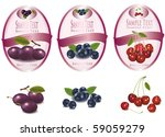 three pink labels with... | Shutterstock .eps vector #59059279