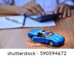 business concept  car insurance ... | Shutterstock . vector #590594672