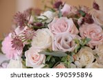 beautifully decorated bouquet... | Shutterstock . vector #590595896