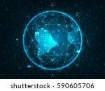 technology network concept.... | Shutterstock .eps vector #590605706