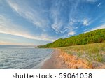 Landscape Of The Shoreline Of...