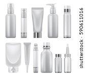 cosmetics pack mockup set.... | Shutterstock .eps vector #590611016