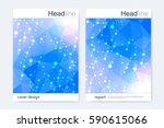 scientific brochure design... | Shutterstock .eps vector #590615066