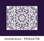 flyer laser cut a mandala. cut... | Shutterstock .eps vector #590616758