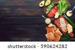 ingredients for a tasty and... | Shutterstock . vector #590624282