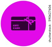 gift card vector  icon   Shutterstock .eps vector #590627606