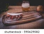 dry meat tapioca   pancake of... | Shutterstock . vector #590629082