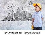 little engineer concept of a... | Shutterstock . vector #590630486