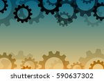 vector background with a gear... | Shutterstock .eps vector #590637302