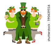 happy st.patrick 's day.... | Shutterstock .eps vector #590639516