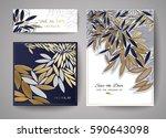 laser cut card. vector design... | Shutterstock .eps vector #590643098