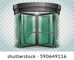 revolving door shopping center  ... | Shutterstock .eps vector #590649116
