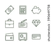 Set Of Finance And Money Icons...