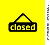 closed icon | Shutterstock . vector #590655272