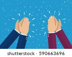 human hands clapping. applaud... | Shutterstock .eps vector #590663696