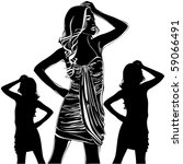 vector black silhouettes of... | Shutterstock .eps vector #59066491