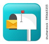 mail icon | Shutterstock .eps vector #590665355