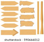 a set of plates pointers ... | Shutterstock .eps vector #590666012
