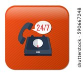 24 7  old phone service   Shutterstock .eps vector #590667248